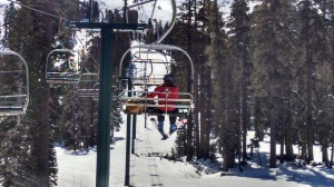 Chewy loved to ride the chairlift.